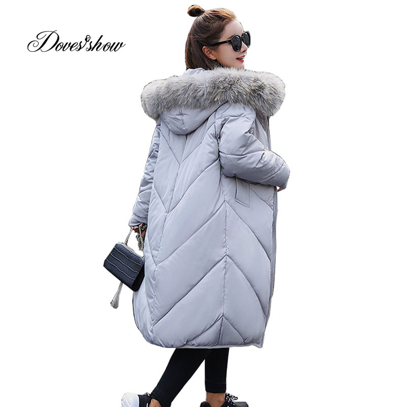 Hooded Fur Collar Winter Down Coat Jacket Long Warm Women Cotton-padded Casaco Feminino Abrigos Mujer Invierno Parkas Outwear 16