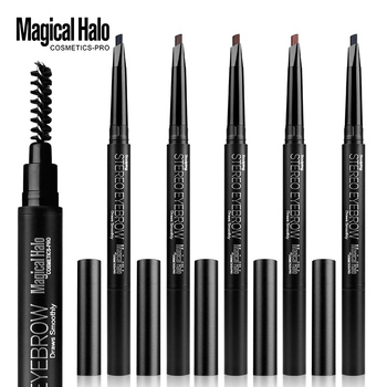 Magical Halo Automatic Eyebrow Pencil Double Rotate Waterproof Lasting Beauty Tools 5 Colors Eye Brown maquillaje With Brush image