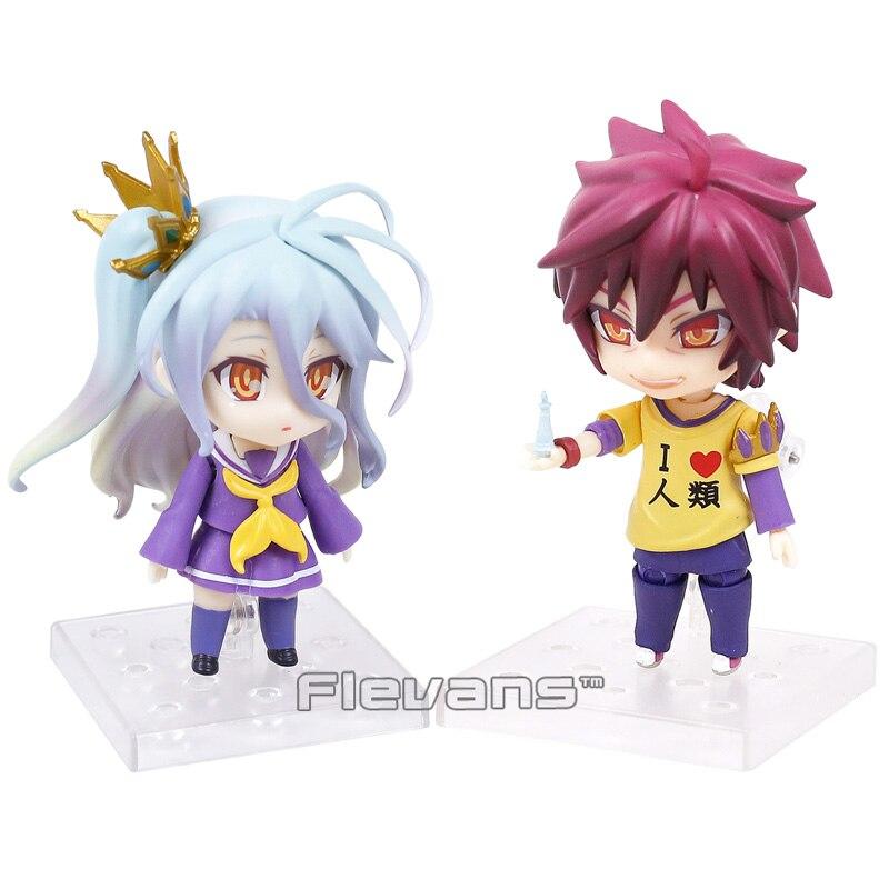NO GAME NO LIFE Shiro 653 / Sora 652 Nendoroid PVC Action Figure Collectible Model Toy