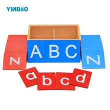 Baby Spielzeug Montessori Lower und Kapital Fall Sandpapier Buchstaben Boxen Holzspielzeug Kind pädagogische Frühe Entwicklung lernen Geschenk