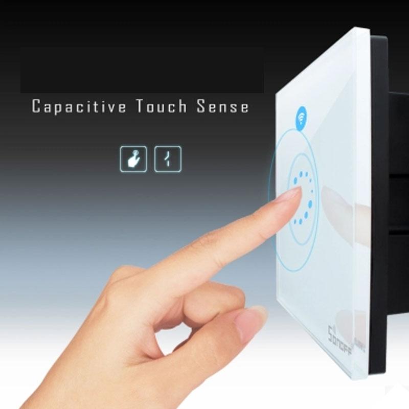 Itead Sonoff Touch EU US Smart Wifi-seina kerge puutetundlik lüliti - Nutikas elektroonika - Foto 3