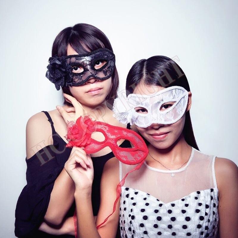 fashion women lady girls sexy flower lace eye mask masquerade party opera carnival fancy dress halloween - Girl Halloween Masks