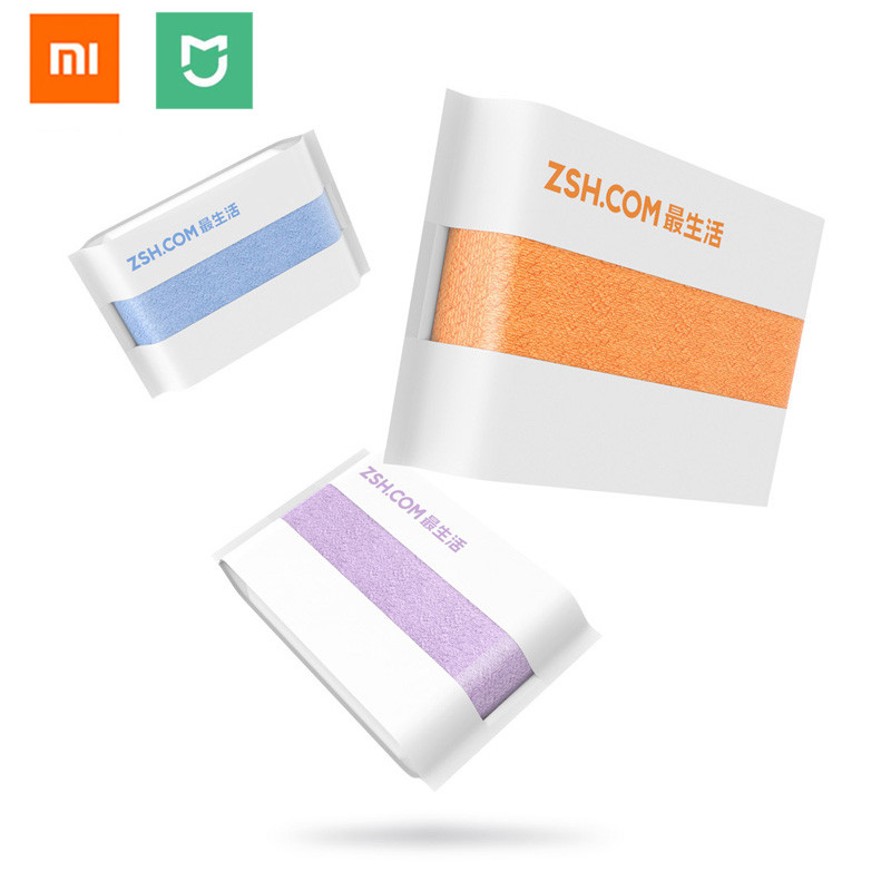 US $6 83 43% OFF|Original Xiaomi ZSH Polyegiene Antibacterical Towel Young  Series 100% Cotton 5 Colors Highly Absorbent Bath Face Hand Towel-in Smart