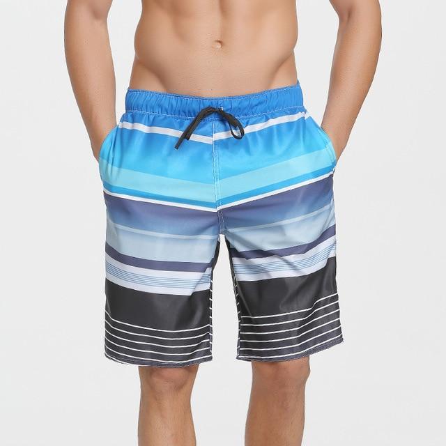 SBARTMen Printed Beach   Shorts   Quick Dry Bermuda Loose   Board     Shorts   Men Running Swimwear Swim Surfing Bathing Spandex Trunks Plus