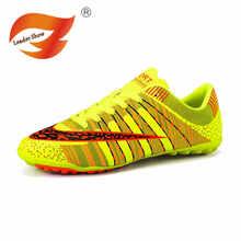 Hombres fútbol hombres zapatillas De marca zapatos TF adolescente Voetbal  entrenamiento al aire libre césped entrenadores 8e505baac9afa