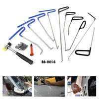 WHDZ 10PCS PDR Rods Perfect for Door Dings, Hail Repair and Dent Removal PDR Tools Kit Pdr Hammer Tap Down w/ Head