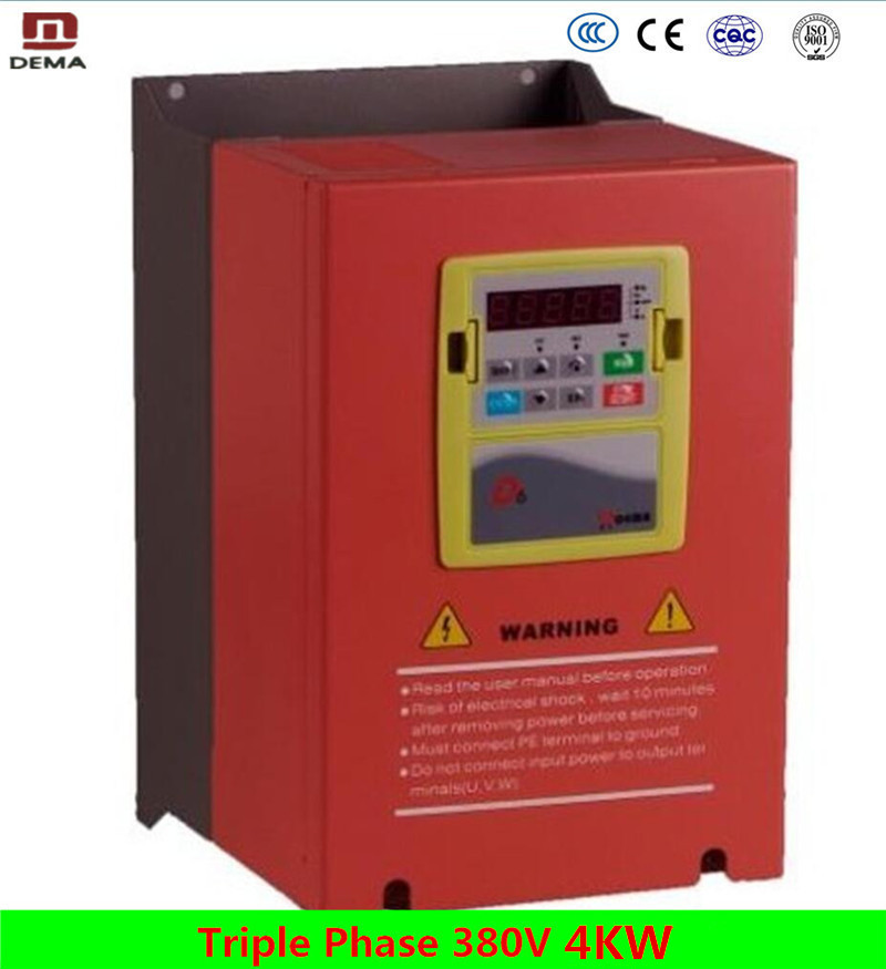 DEMA D6B Series Energy Conservation 4KW 3Phase 380V DC input AC output VFD VSD Variable Speed Drive Vector Frequency Inverter