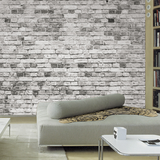 Wallpapers for living room 3d wall mural stone brick wallpaper photo vintage nostalgic papel de for Brick wallpaper interior design