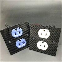 Hifi audio Hifi US ac power socket power Duplex Receptacle Copper Carbon Fiber Outlet HIFI Socket