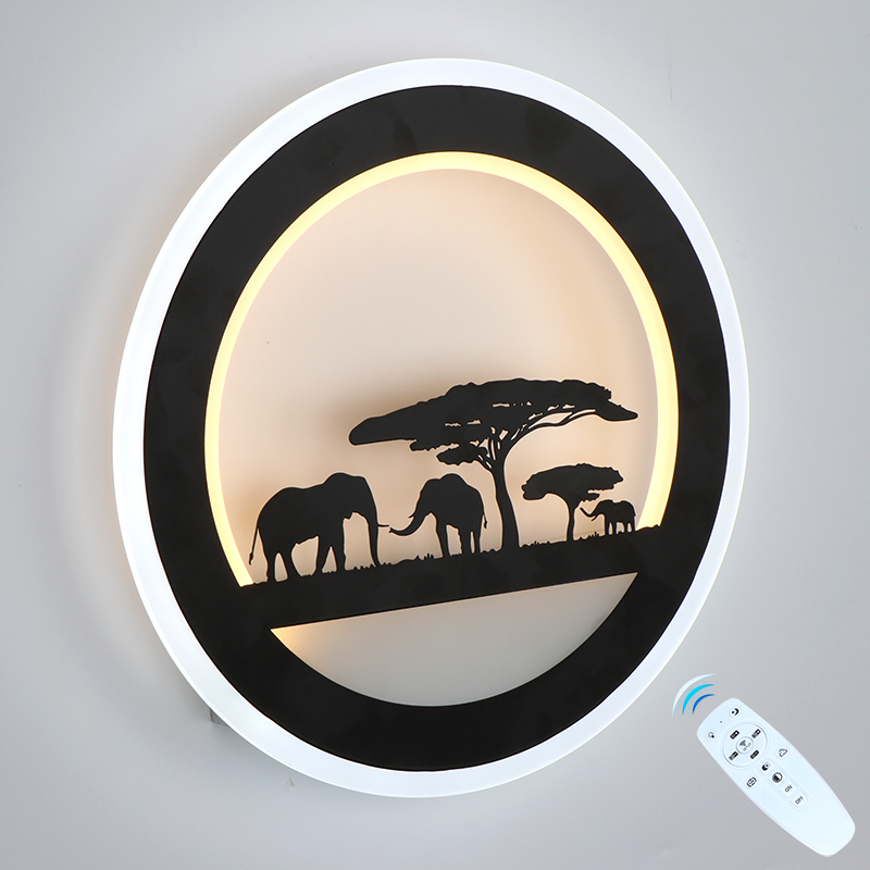 29W LED Wall Lamp Dimmable Lighting Segment 2 4G RF Remote Control Indoor Bedroom Living Room