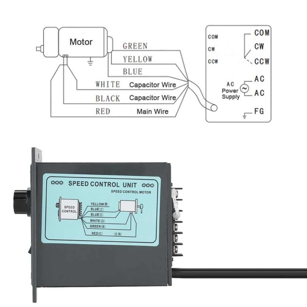 ac 220v motor speed controller 400w digital adjustable stepless plc motor speed controller 0 1450rpm  [ 1000 x 1000 Pixel ]