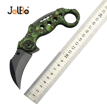 JelBo Mini Hunting Knife Multi Portable Pocket Self Defense Karambit Tactical Camping Survival Stainless steel Tools