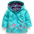 2016 Autumn New Waterproof Baby Girls Windbreaker Flower Kids Trench For Girl Jacket Princess Beautiful Raincoat Casual Pizex