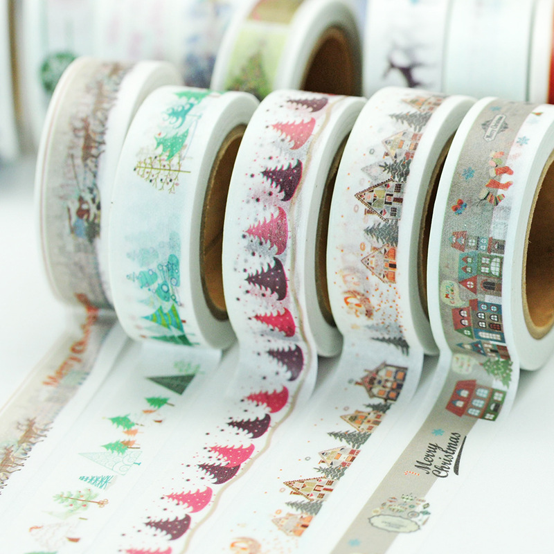 (5 Pieces/lot) Christmas Washi Tape Cute Decoration Scrapbooking Tape Paper Masking Tape