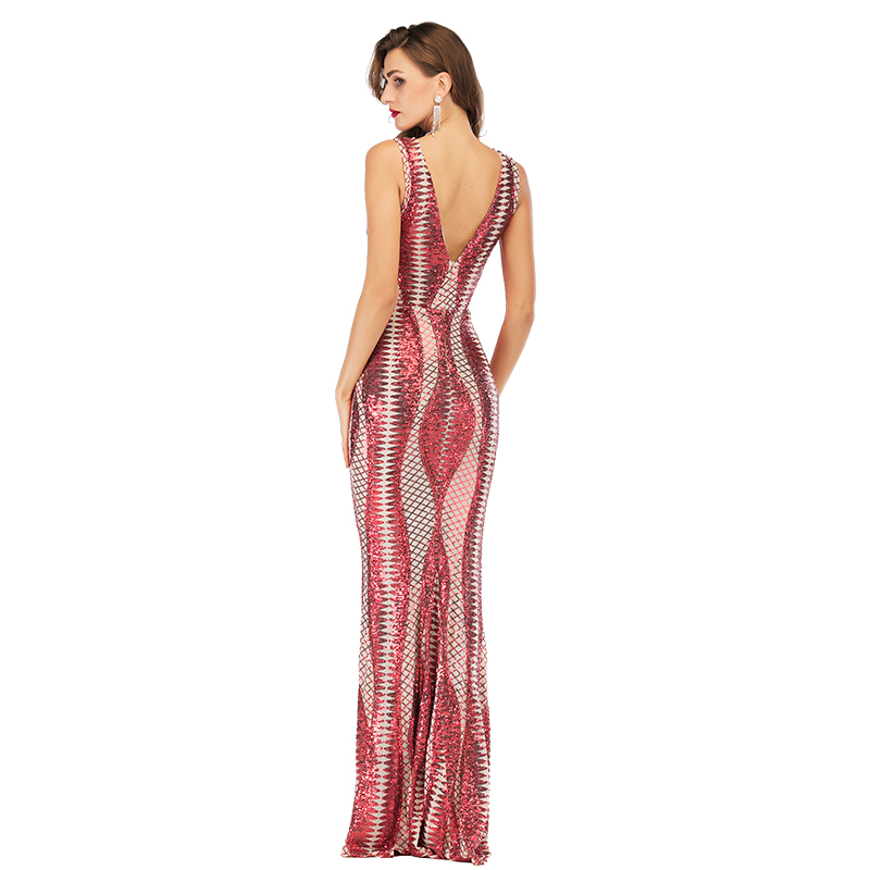 Sexy party summer dress women Elasticity Sequins long dress elegant vintage luxury club wrap bodycon ladies maxi dresses vestido in Dresses from Women 39 s Clothing