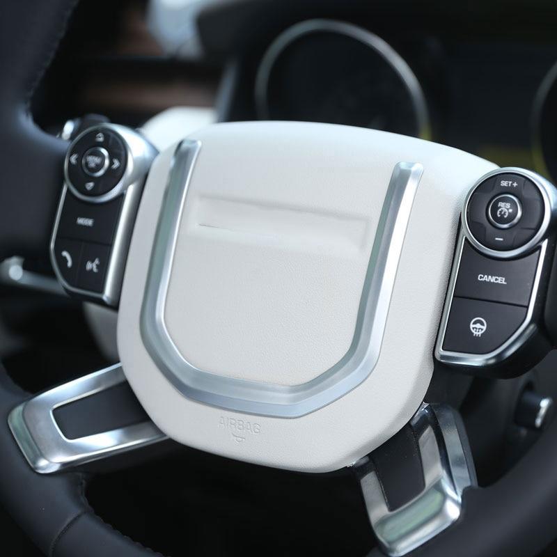 Matt Chrome Steering Wheel Cover trim land rover Discovery Sport 2014 2015 2016
