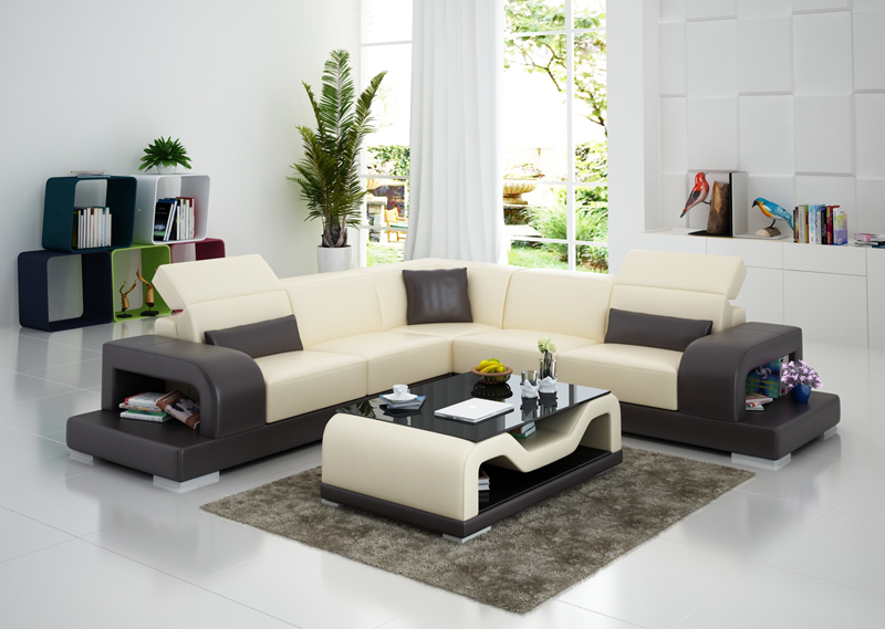 Modern Design Small Size Bright Color Living Room Leather ...