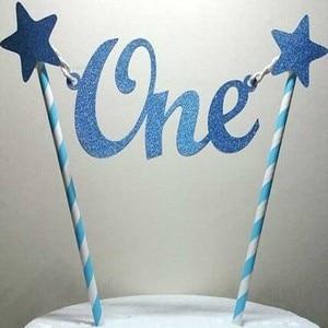 1 шт. креативный детский 1 день рождения торт Топпер одна буква звезды торт топперы соломинки детский душ Smash торт украшения