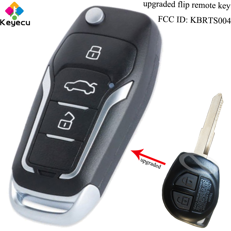 KEYECU Upgraded Flip Remote Car Key - 3 Buttons & 315MHz & ID46 Chip - FOB For SUZUKI SWIFT SX4 ALTO VITARA IGNIS JIMNY KBRTS004