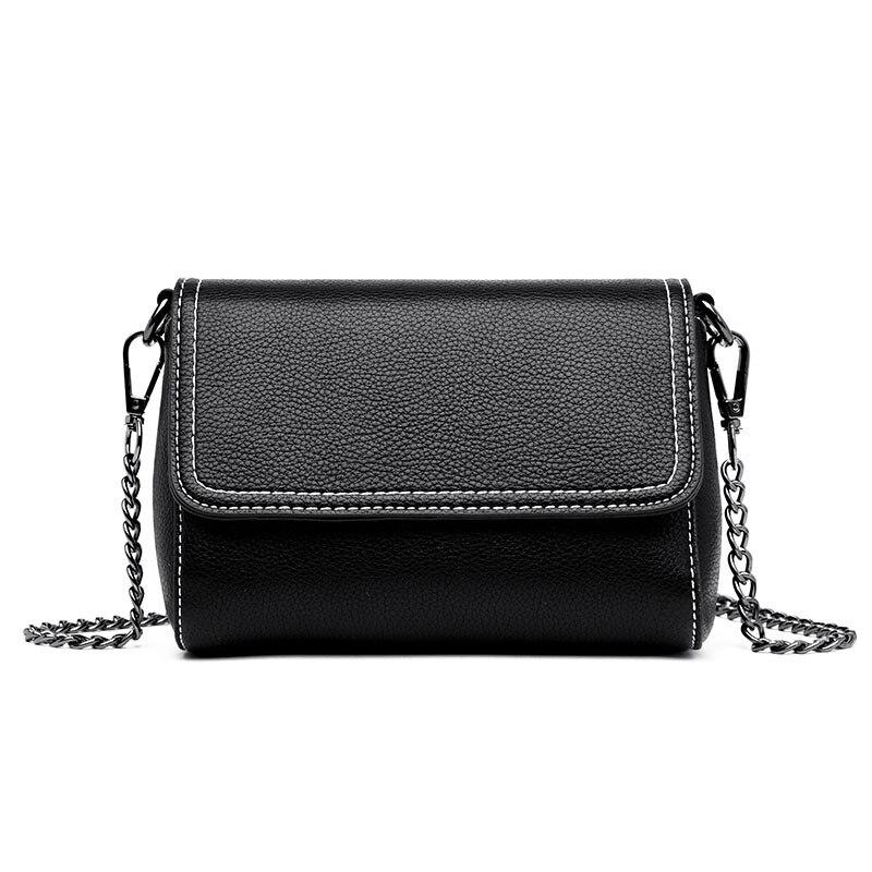 2020 New Bag Female Sheepskin Shoulder Bag Fashion Wild Europe And America Messenger Bag Casual Black Color