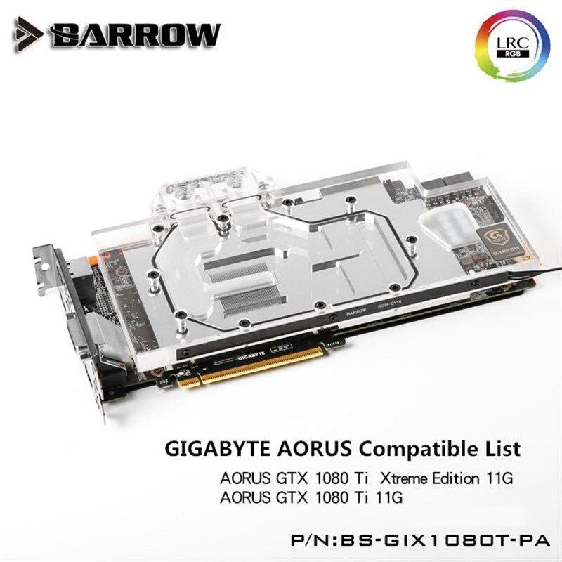 Barrow GIGABYTE AORUS GTX1080TI GPU Water Block Aurora Full Coverage BS-GIX1080T-PA unmarried motherhood in barrow
