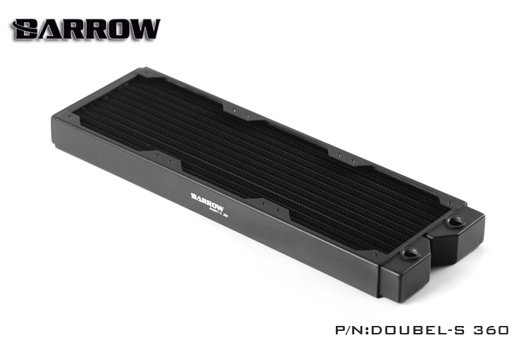Barrow Doubel s 360mm Double Fin Copper Radiator Water Cooling