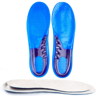Silicone Gel Insoles Man Women Insoles Orthopedic Massaging Shoe Inserts Shock Absorption Shoepad