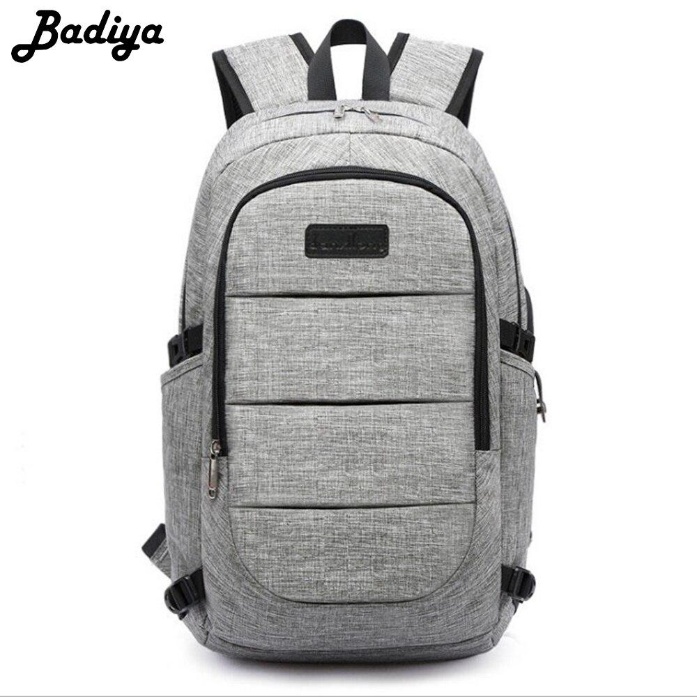 Fashion Backpacks Anti Theft Men 15.6 inch Laptop Backpack USB Waterproof Password Lock School Bag For Women Teenager Mochila