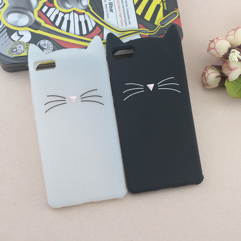 Case For Huawei P8 GRA-L09 Lovely Cat Beard Cover For Huawei P8 Lite ALE-L21 P8 Mini 3D Cute Ear Glitter Shell Rubber Protective