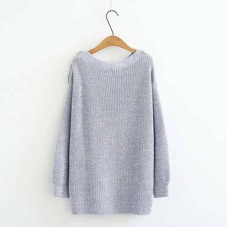 C2 осень-зима Свободные свитеры 5XL плюс Размеры женская одежда модные Свободные Вязание пуловеры 2015