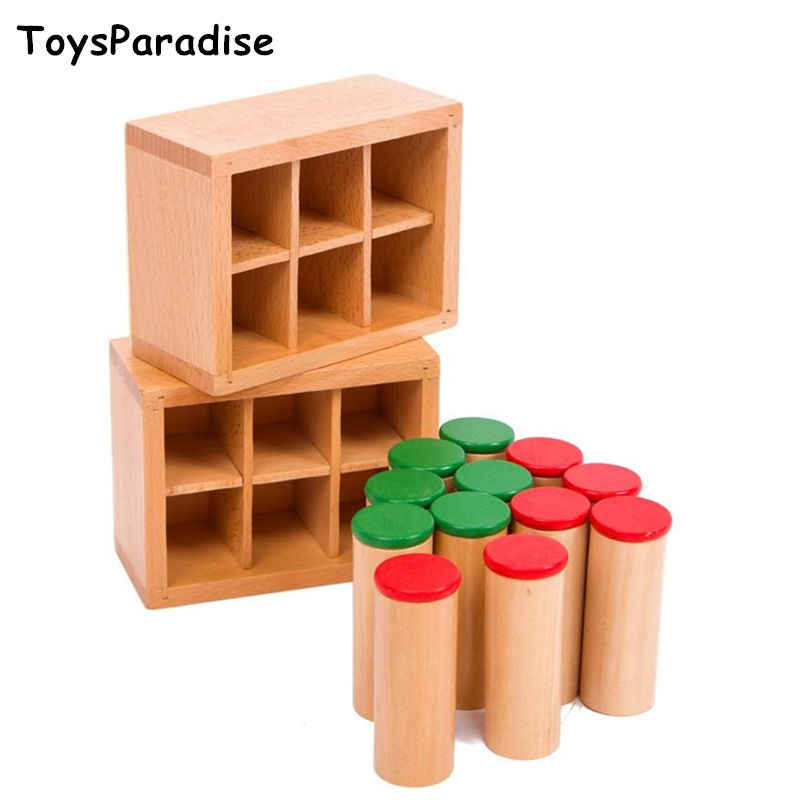 Details about  /Montessori Baby Sound Box Wooden Base Set Sensorial Toy Educational