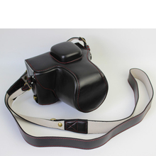 Black Luxury Digital Camera Leather Case Cover for Olympus Pen Lite E-PL7 Camera Case Charging Directly Free Shipping
