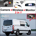 3 in 1 Special Camera + Wireless Receiver + Mirror Monitor Rear View Back Up Parking System For Mercedes Benz For Dodge Sprinter