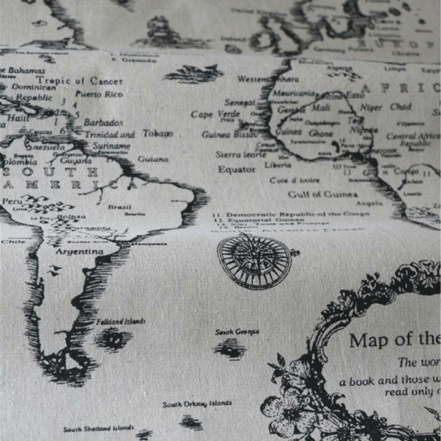Natural Curatins,Crafts,Home Upholstery Cushions Fabric World Map