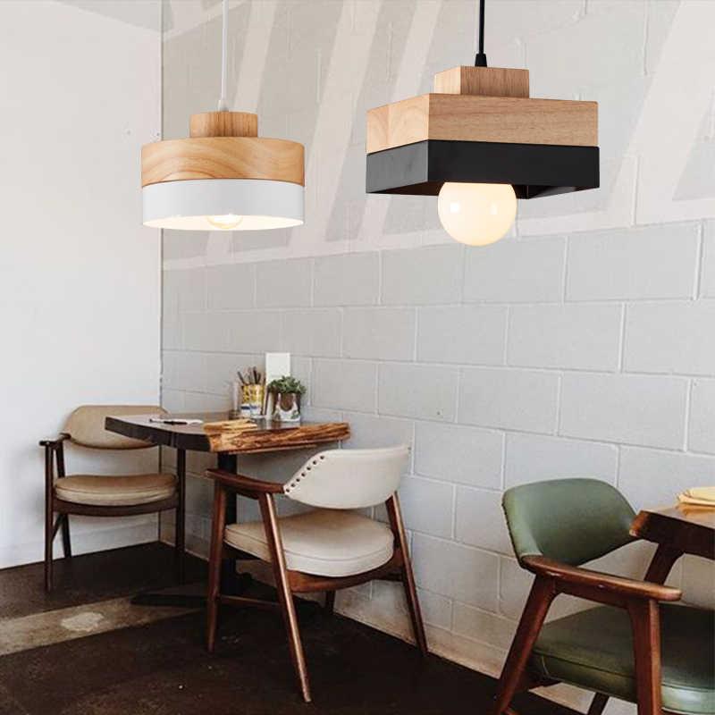 Современная мода дерево + Рион Бар Кафе Ресторан подвесной светильник кабинет офис прохода коридор гостиная столовая люстра свет