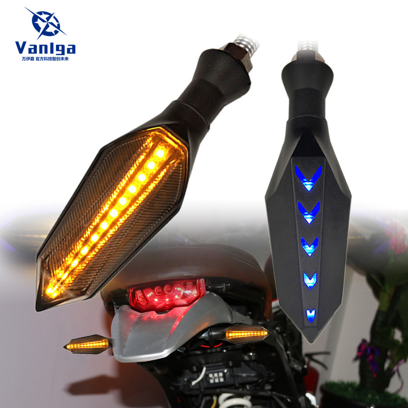 2pcs Motorcycle Modified Turn Signals Waterproof Turn Lights LED Direction Lamp Decorative Flowing Motocross Lights Daytime Lamp