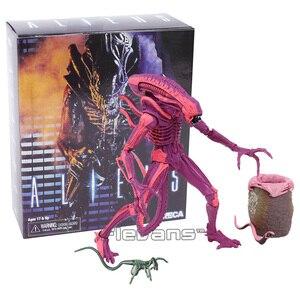 Инопланетянин, нека, красный Alien, с нагрудником и лицевым лицом, ПВХ, экшн-фигурка, Коллекционная модель игрушки