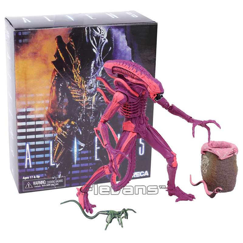 NECA ALIENS Red Alien with Chestburster & Facehugger PVC Action Figure Collectible Model Toy the complete aliens omnibus volume two genocide alien harvest