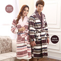 Winter flannel robe men bathrobe lovers male women thickening  coral fleece velvet men sleepwear couples