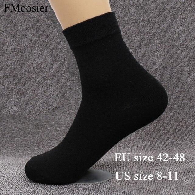 8 пар размера плюс мужское хлопковое мягкое платье деловые однотонные осенние носки зимние теплые черные белые 48 44 45 46 47