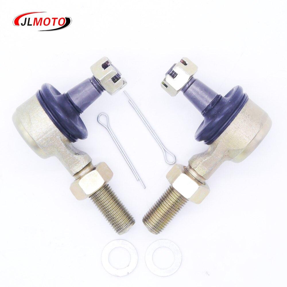 1 Pair M12 LH&RH Hand Thread Steering Tie Rod End Fit For Kawasaki KFX450R Suzuki R450 Yamaha Raptor YFZ450R YFM700 660 SF 500x6