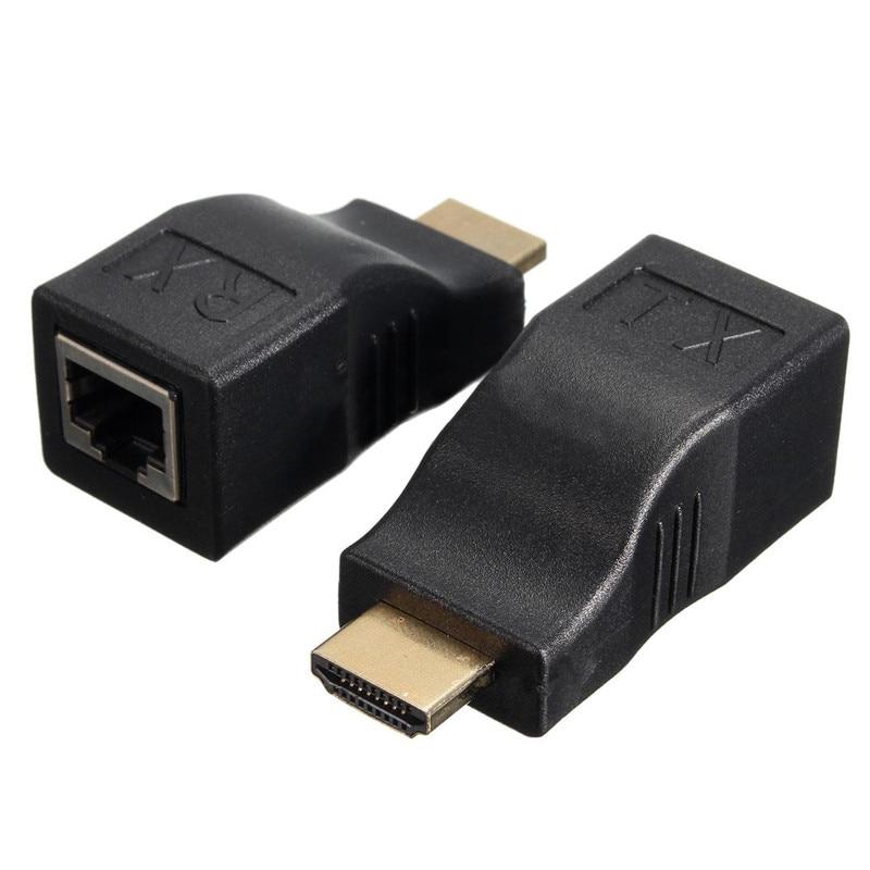 Hdmi rj45 cat5e cat6 utp lan ethernet hdmi extender repeater 1080 p...