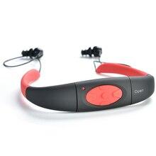 JRGK IPX8 Subacuática Impermeable 8 GB Deporte Reproductor de Música MP3 Banda Para El Cuello Auriculares Estéreo de Auriculares de Audio con FM para el Buceo Natación