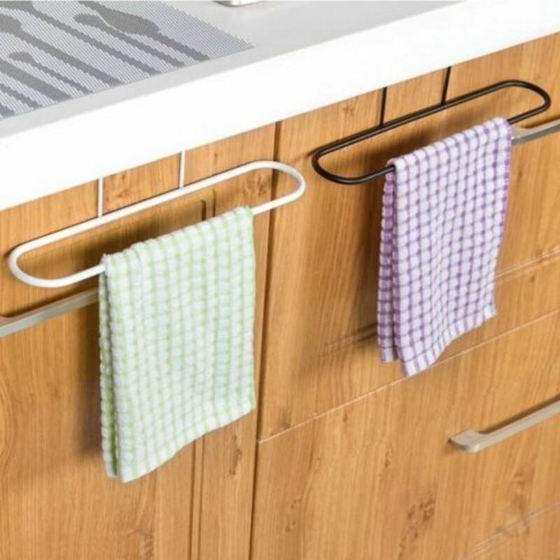 Metalen Over Deur Handdoek Houder Rack Rail Kast Kast Hanger