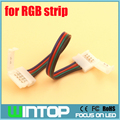 WINTOP 10pcs/lot 10mm 4Pin Led Connectors RGB LED Strip Connector Wire with Two-way Free Soldering for SMD5050 RGB Strip