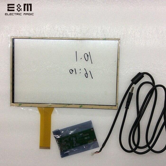 E & M 10 Pouce 4 Point Capacitif Tactile Écran 16:10 Kit Ensemble USB pour Raspberry Pi 3 Moniteur Auto Voiture Afficher Android Fenêtre Linux