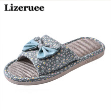 Candy color Warm Home Slippers Women Bedroom Winter Slippers Cartoon Bowtie Indoor Slippers Cotton Floor Home Flax Shoes ME266 dreamshining warm slippers women bedroom winter slippers women cartoon bowtie japanese indoor slippers cotton floor home shoes