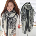 Vintage Women Fashion Soft Voile Long Neck scarf Wrap Stole Pashmina Shawl Little Deer Disk Pattern