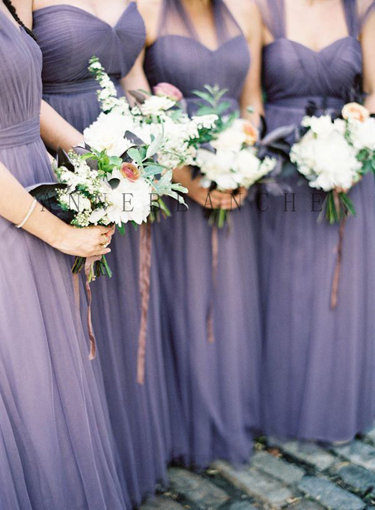 Romantic Vintage Country Style Convertible Long Bridesmaid Dresses 2015  Purple, Lilac, ... - Dress Your Own Doll Picture - More Detailed Picture About Custom