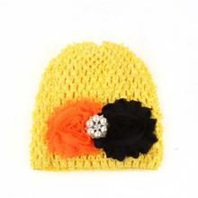 Fashionable Spring / Autumn Infant Baby Hats Flower Hollow Out Hats Headwear baby bonnet Caps Krystal